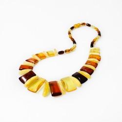 collar de ámbar mientras que el estilo egipcio ámbar multicolor