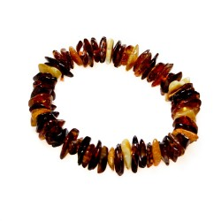Baroque bracelet in amber cognac and royal