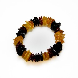 Bracelet tout ambre multicouleur style baroque