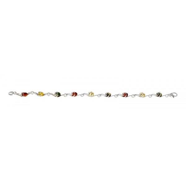 Bracelet en Argent et Ambre design