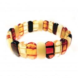 Bracelet en ambre multicouleur adulte