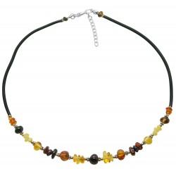 collar de ámbar multicolor