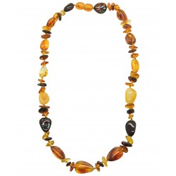 Collier Ambre Adulte multicolore