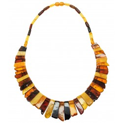 Collier en Ambre multicolore adulte
