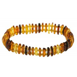 Multicolored adult amber bracelet