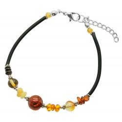 Bracelet d'ambre multicolore