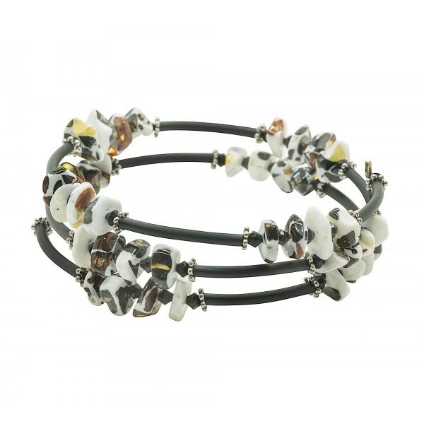 Bracelet en Ambre mozaïque 3 tours