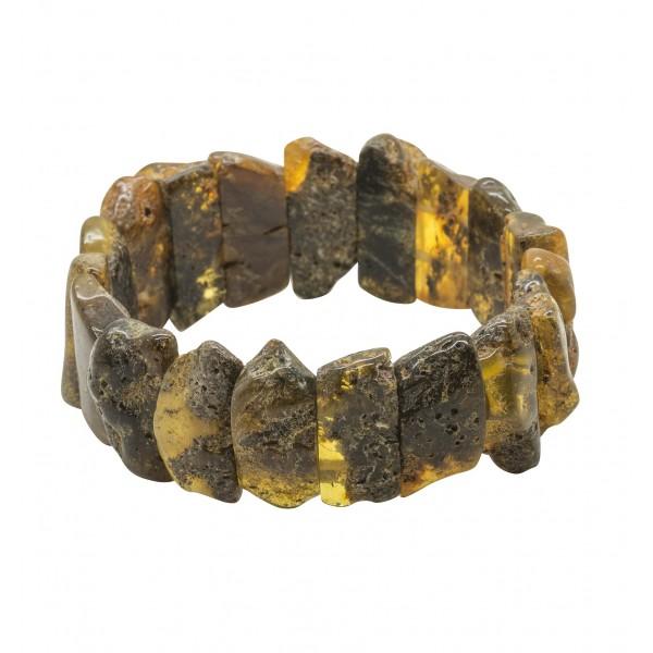 Bracelet en ambre brut non polis