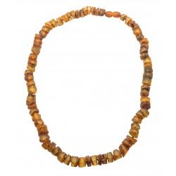 Bernsteinkette - poliert und rau runde Steine