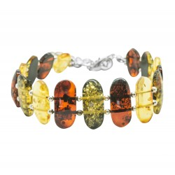 Cognac adult amber bracelet, green, lemon
