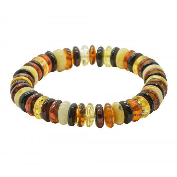 Bracelet d'ambre multicouleur