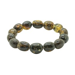 Bracelet d'ambre naturel vert