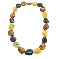 Erwachsene Halskette multicolor Bernstein