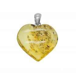 Großes Herz Grün Gelb und Silber