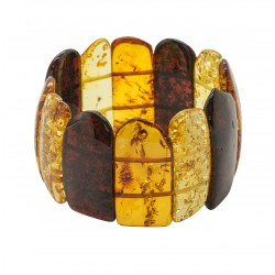 Big multicolored natural amber bracelet