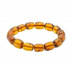 Armband Cognac amber, zylindrischen