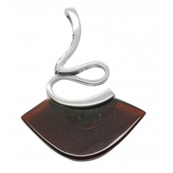 Egyptian pendant in 925 sterling silver and cherry amber
