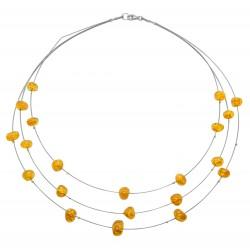 Halskette Bernstein honigfarbene Perlen