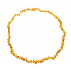 Amber necklace cognac baroque shape