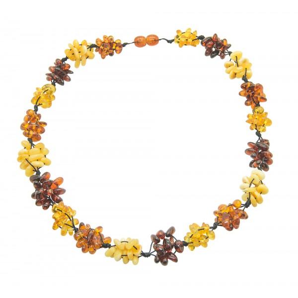 Collier Ambre multicolore
