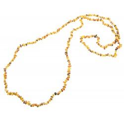 Sehr lange Halskette mehrfarbiges Bernstein