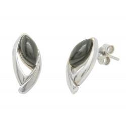 Orecchini ambra e argento ciliegio 925/1000