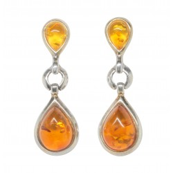 Silver 925/1000 earring and natural amber pearl
