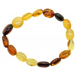 Adult Bracelet with Amber Olive Multi-Colored