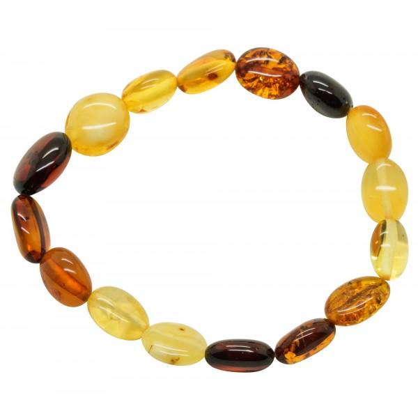 Adulte Bracelet avec Olive d'ambre multocolore