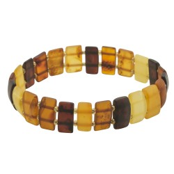 Adult multicolored amber bracelet
