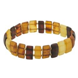 Erwachsenen Armband mehrfarbig Rohbernstein