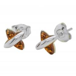 小耳环银和琥珀色的干邑