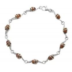 Silver Bracelet and Amber Design