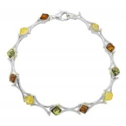 Square shape amber bracelet