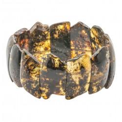 Wholesale bracelet in raw green amber