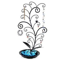 Tree Jewelry Holder 17 Hooks, Black