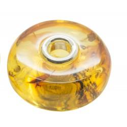 Perle en Ambre miel style Pandora