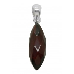 ambra ciliegio Ciondolo e argento - Almond