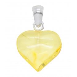 Petit coeur d'ambre couleur lemon