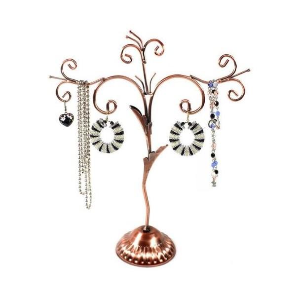 珠宝展示树垂垂老矣的外观,铜