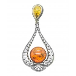 Amber and silver pendant 925/1000