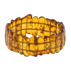 Bracelet d'ambre naturel couleur cognac