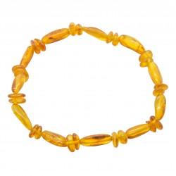 Armband für Erwachsene Honig Bernstein