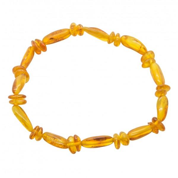 Bracelet adulte d'ambre miel