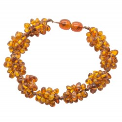 Amber bracelet with nest of amber pearls