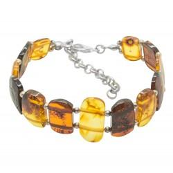 Adult amber bracelet color cognac, honey