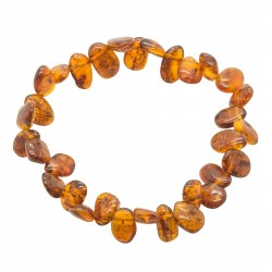 Cognac adult amber bracelet - petals