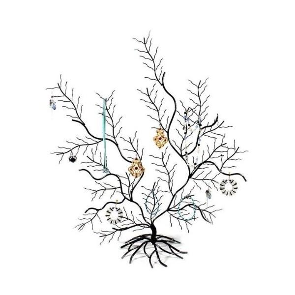 Schöne dekorative Baum Displaywand trägt Schmuck, Schwarz