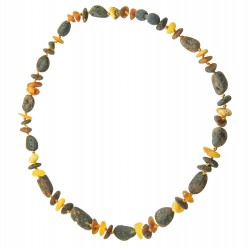 Adult Multicolored Amber Necklace