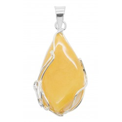 Pendant amber royal and silver 925/1000